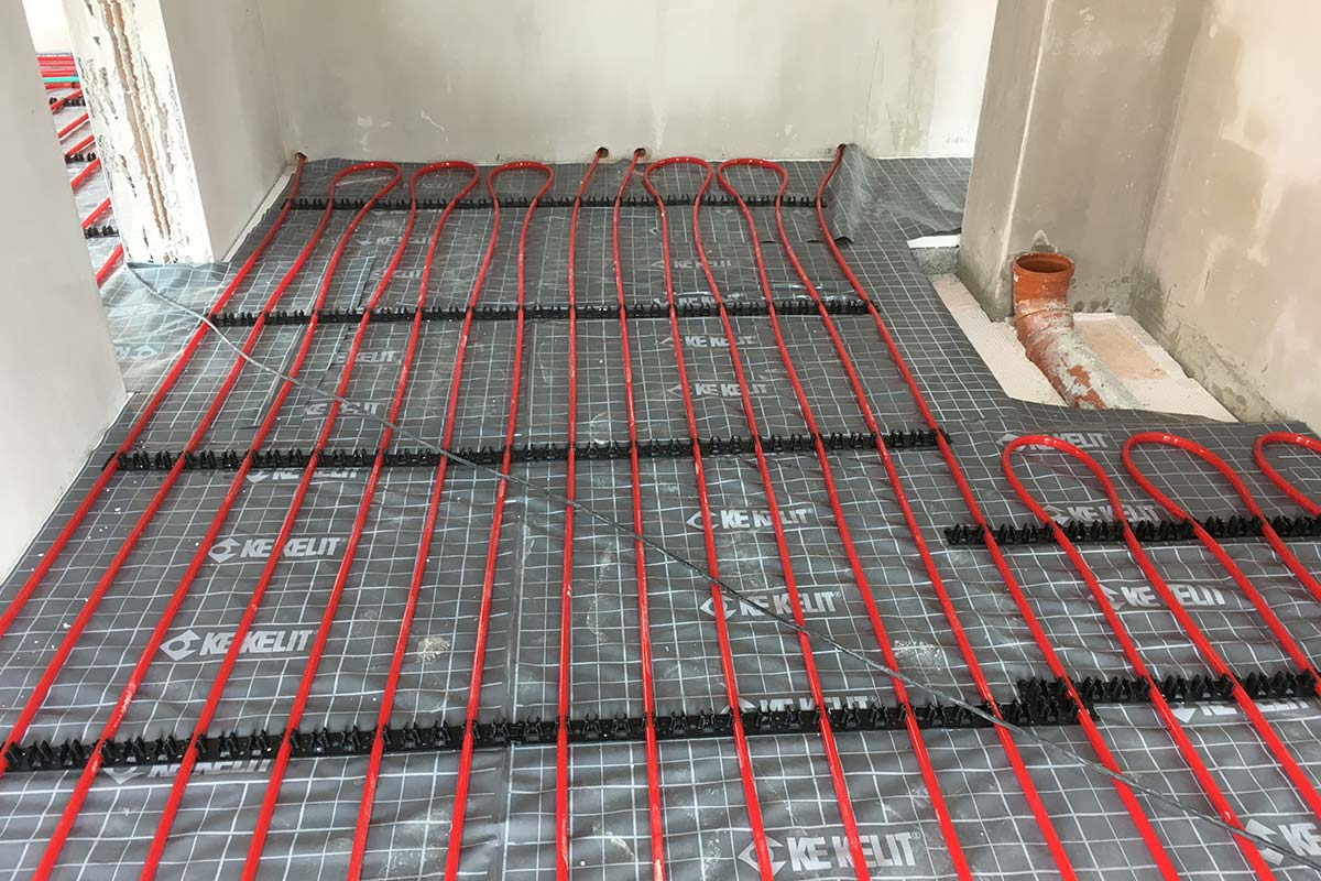 Saniton Fußbodenheizung Neubau